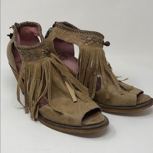 Shoes - Junk Gypsy Archer Tan Open Toe Ankle Boot